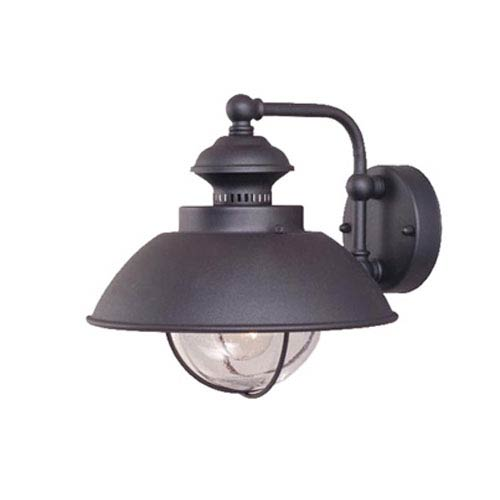 Vaxcel Harwich Textured Black 10-Inch Outdoor Wall Light