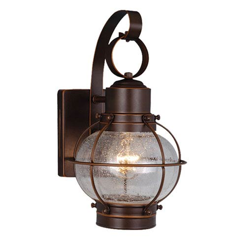 Vaxcel Chatham Burnished Bronze 7-Inch Outdoor Wall Light
