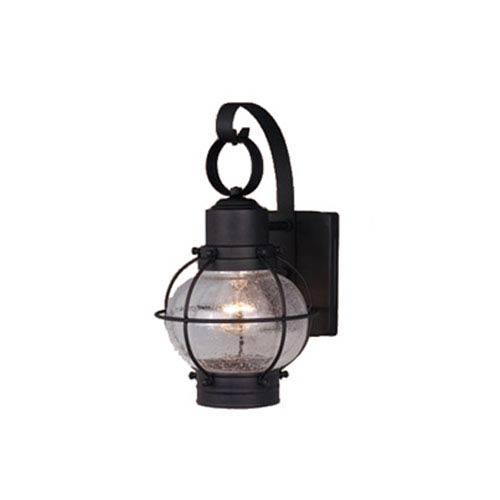Vaxcel Chatham Textured Black 7-Inch Outdoor Wall Light