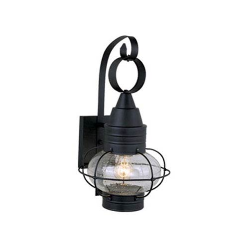 Vaxcel Chatham Textured Black 10-Inch Outdoor Wall Light