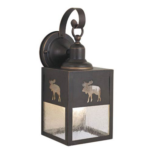 Vaxcel Yellowstone Burnished Bronze 5-Inch Outdoor Wall Light