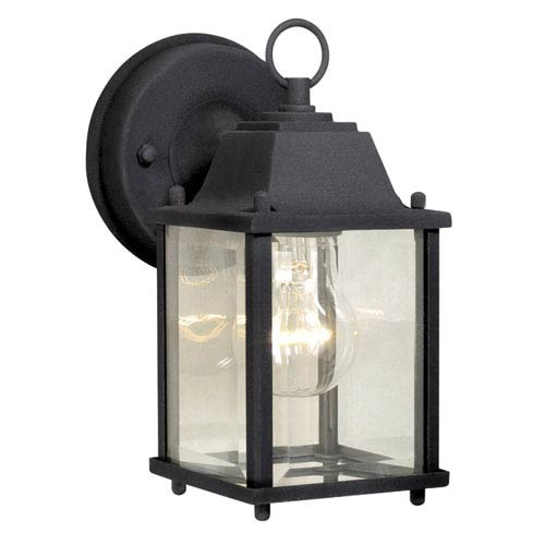 Vaxcel Millard Textured Black 5-Inch Outdoor Wall Light