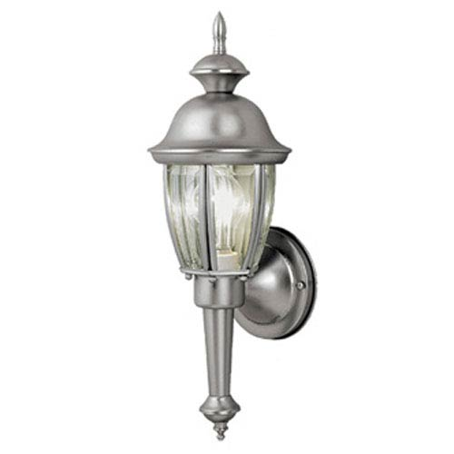 Vaxcel Capitol Brushed Nickel 6-Inch Outdoor Wall Light