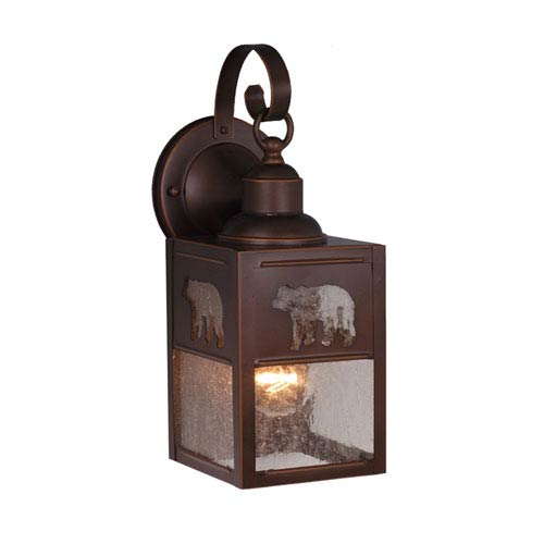 Bozeman Burnished Bronze 5-Inch Outdoor Wall Light