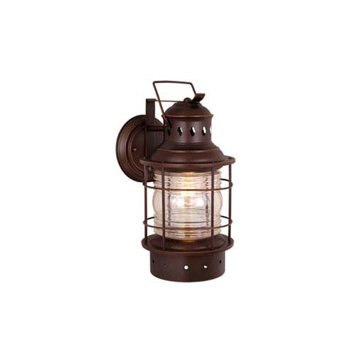 Vaxcel Hyannis Burnished Bronze 12-Inch Outdoor Wall Light