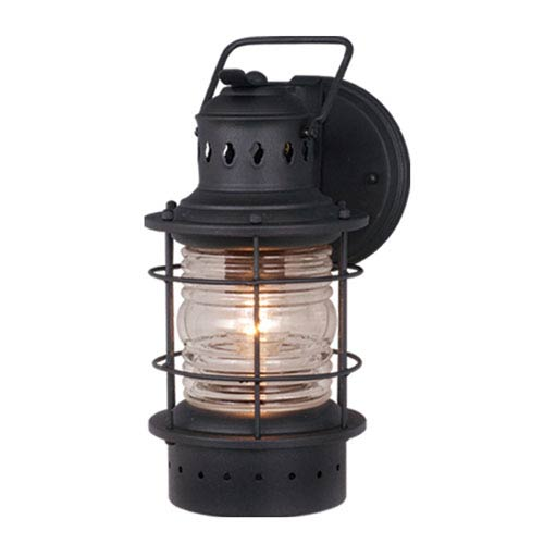 Vaxcel Hyannis Texture Black 6-Inch Outdoor Wall Light
