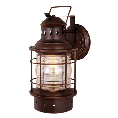 Vaxcel Hyannis Burnished Bronze 8-Inch Outdoor Wall Light