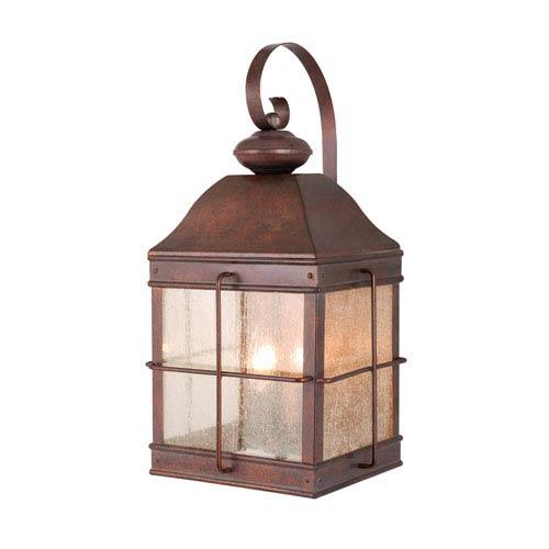 Vaxcel Revere Royal Bronze Three-Light 10-Inch Outdoor Wall Light