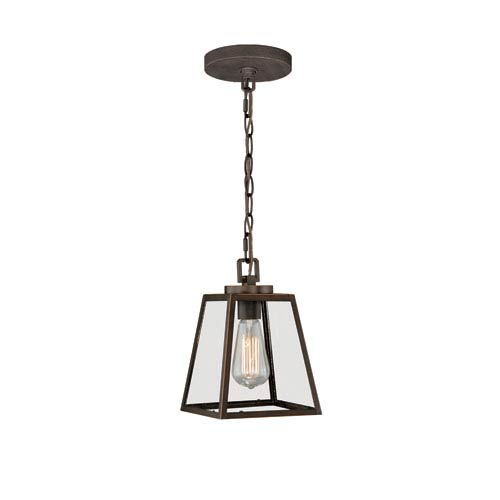 Burnished Bronze 7-Inch Wide One-Light Mini Pendant with Clear Glass