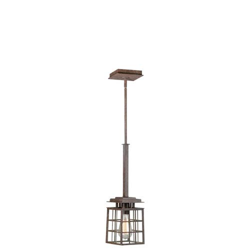 Vaxcel Rustic Bronze 5-Inch Wide One-Light Mini Pendant