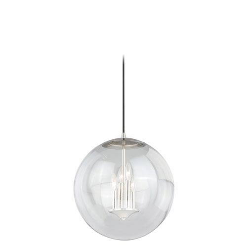 630 Series Polished Nickel 16-Inch Pendant with Clear Glass