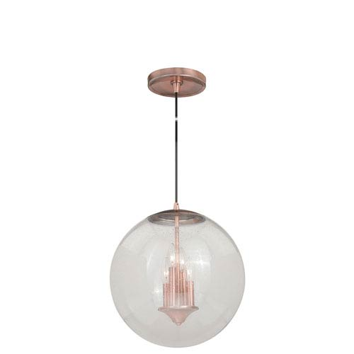 Vaxcel 630 Series Copper 16-Inch Pendant with Clear Glass