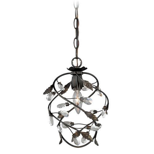 Trellis Architectural Bronze One-Light Mini Pendant
