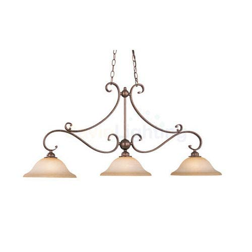 Vaxcel Monrovia Royal Bronze Three-Light Kitchen Island Light