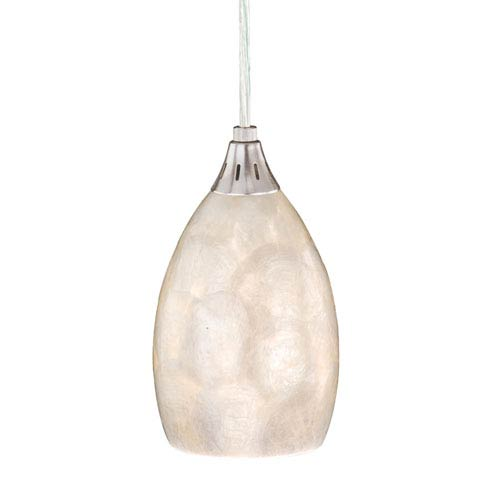 Vaxcel Milano Satin Nickel 4-1/2-Inch Mini Pendant