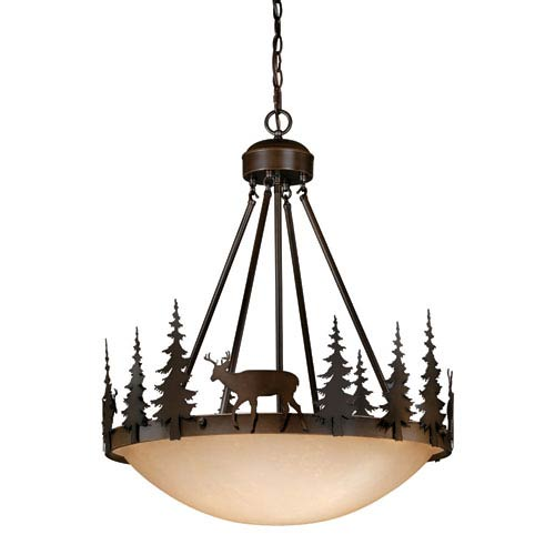 Bryce Burnished Bronze Four-Light 24-Inch Pendant