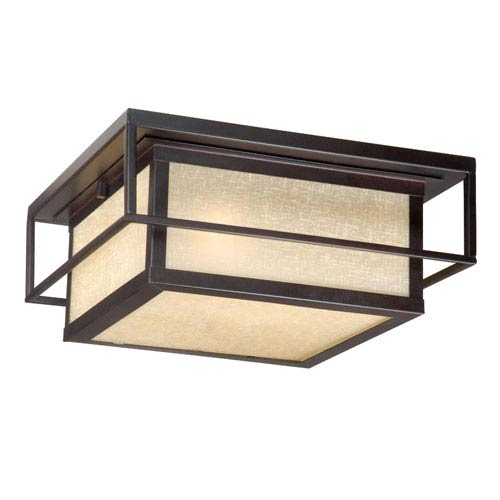 Vaxcel Robie Espresso Bronze Two-Light 12-Inch Outdoor Flushmount