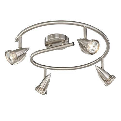 Vaxcel Satin Nickel Four-Light Line Voltage Spot Light