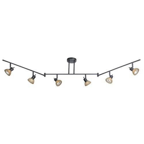 Dark Bronze Six-Light Swing Track Bar