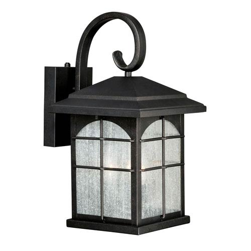 Vaxcel Bembridge Gold Stone 9-Inch Outdoor Wall Light