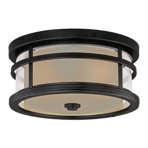 Cadiz Oil Rubbed Bronze 12-Inch Outdoor Flush Mount