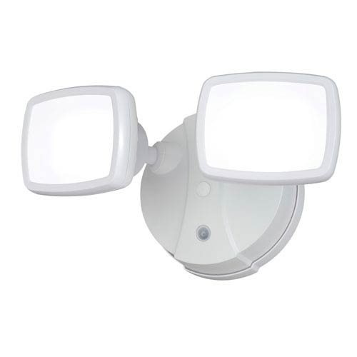 Sigma White Two-Light LED Outdoor Wall Sconce