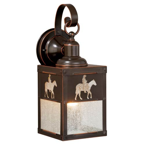 Trail Burnished Bronze 5-Inch One-Light Outdoor Wall Sconce