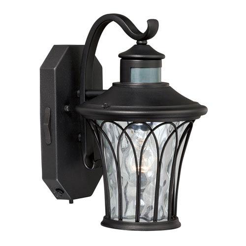 Vaxcel Aail Textured Black One Light Outdoor Motion Sensor