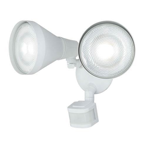 Gamma White Two-Light Outdoor Motion Sensor