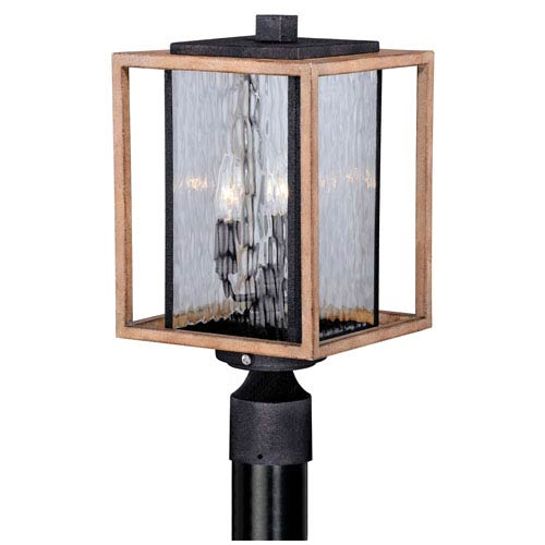 Outdoor photocell post lighting bellacor vaxcel modoc textured dark bronze three light outdoor post light aloadofball Image collections