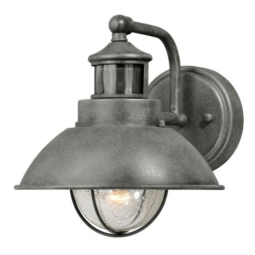 Harwich Dualux Textured Gray 8-Inch One-Light Outdoor Wall Light