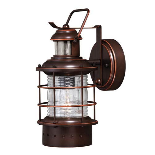 Vaxcel Hyannis Dualux Burnished Bronze 5.5-Inch One-Light Outdoor Wall Light