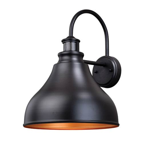 Vaxcel Delano Dualux Oil Burnished Bronze 13-Inch One-Light Outdoor Wall Light