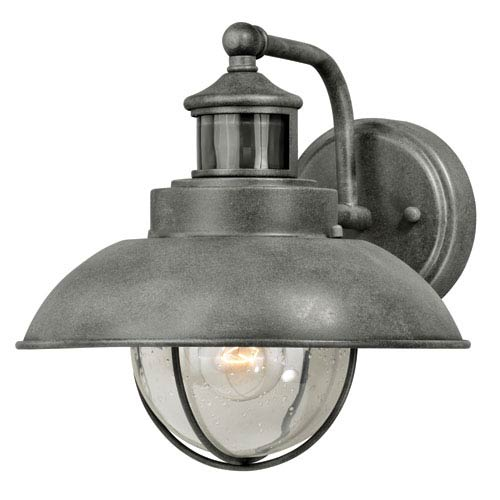 Vaxcel Harwich Dualux Textured Gray 10-Inch One-Light Outdoor Wall Light