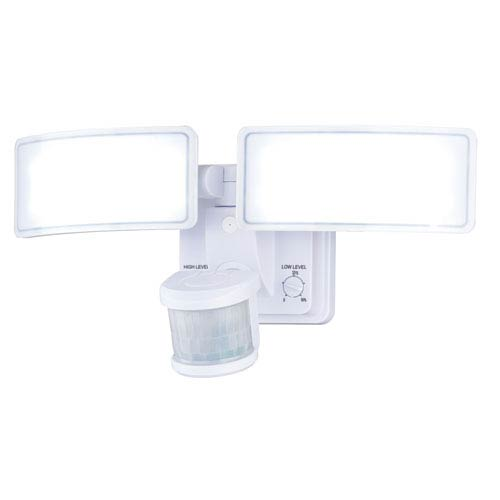 Gamma Dualux White LED Security Light with Bluetooth