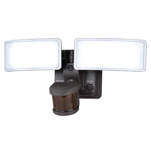 Vaxcel Gamma Dualux Bronze LED Security Light with Bluetooth