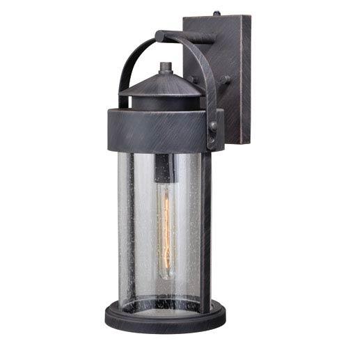 Vaxcel Cumberland Rust Iron 8-Inch One-Light Outdoor Wall Light