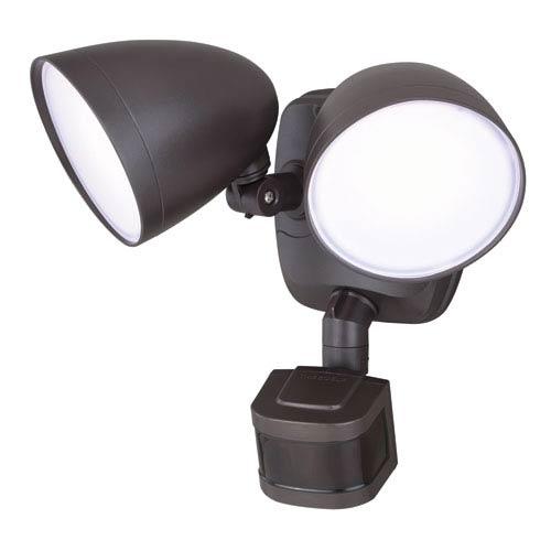 Tau Dualux Bronze 3000K LED Security Light