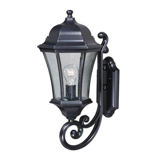 Vaxcel Aberdeen Shiny Black 10-Inch One-Light Outdoor Wall Light