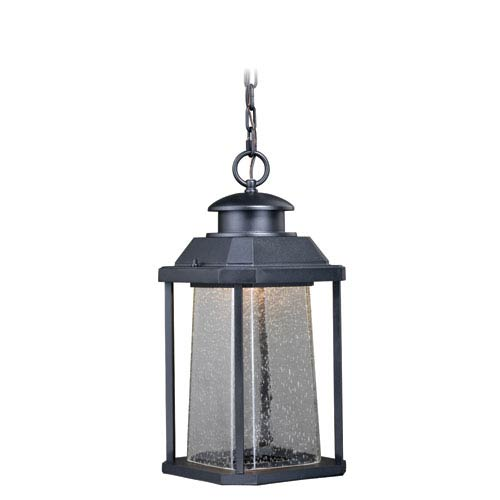 Vaxcel Freeport Textured Black 9-Inch LED Outdoor Pendant