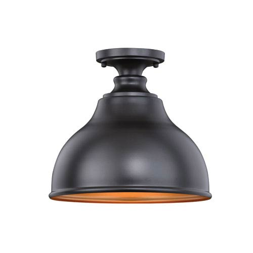 Delano Oil Burnished Bronze 11-Inch Semi-Flush Mount