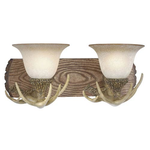 Vaxcel Lodge Noachian Stone Two-Light Vanity