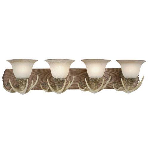 Vaxcel Lodge Noachian Stone Four-Light Vanity
