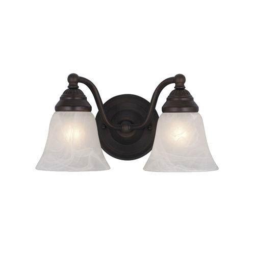Vaxcel Standford Oil Burnished Bronze Two-Light Vanity