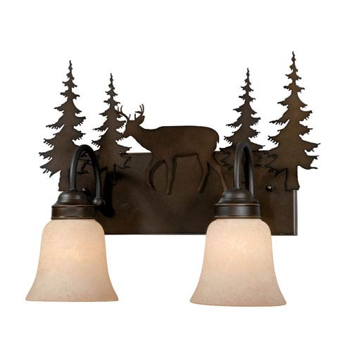 Vaxcel Bryce Burnished Bronze Two-Light Vanity