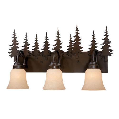 Yosemite Burnished Bronze Three-Light Vanity