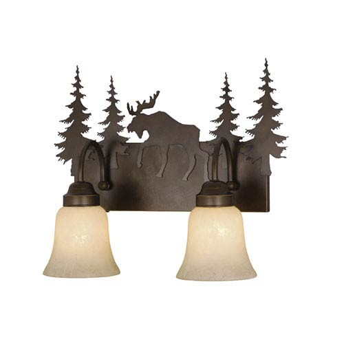 Vaxcel Yellowstone Burnished Bronze Two-Light Vanity