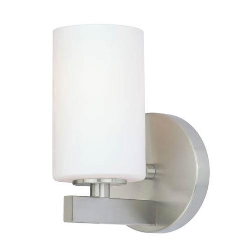 Vaxcel Glendale Satin Nickel One-Light Vanity