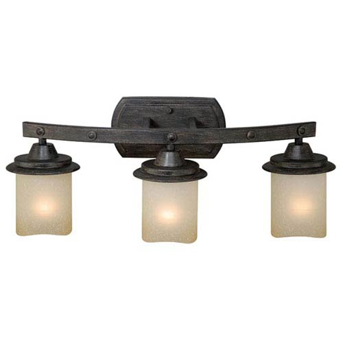Halifax Aged Walnut Three-Light Vanity Fixture