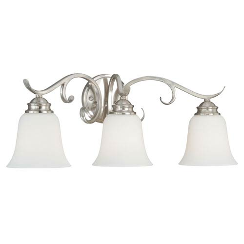 Hartford Satin Nickel Three-Light Vanity Fixture